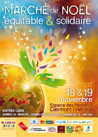 Marché de Noël Équitable et Solidaire de Clermont l'Hérault - Hérault.