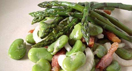 Recette Salade De Feves Fraiches Et Asperges Vertes Cuisine
